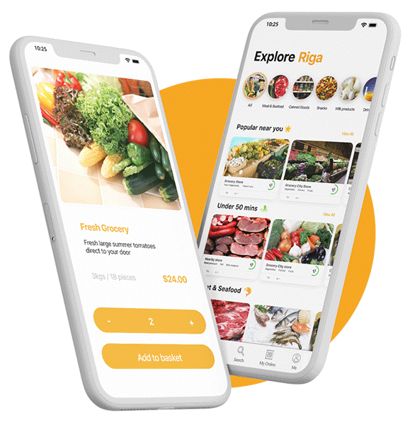 #1 On demand Grocery delivery system